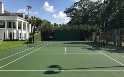 No Fault Completes Tennis & Basketball Court Surfacing for The Governor's Mansion
