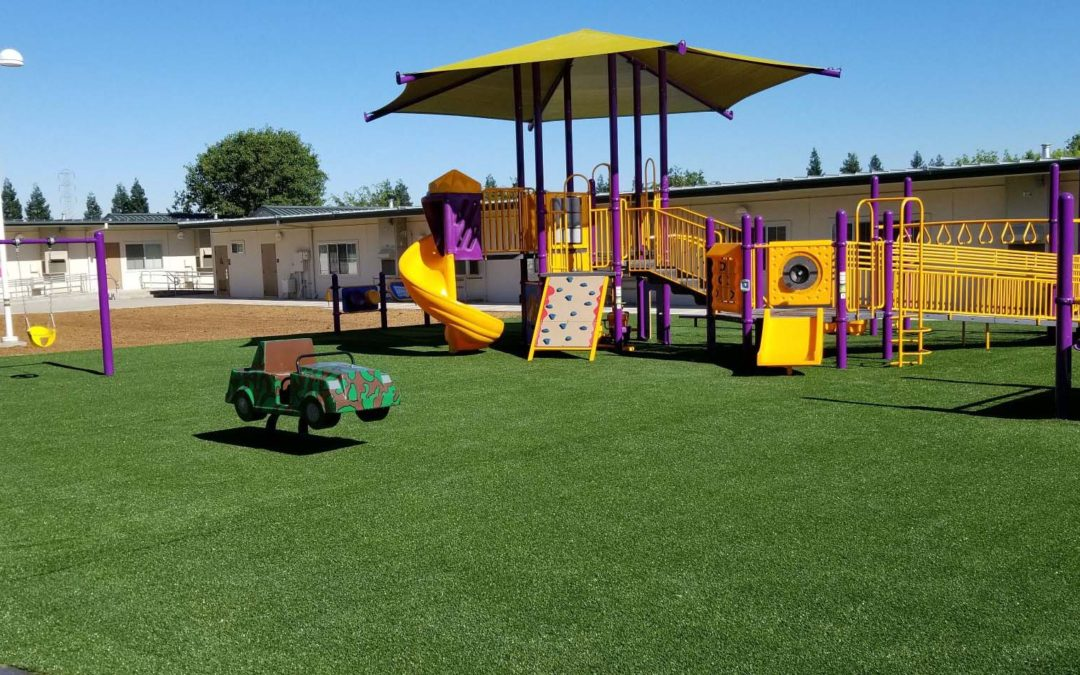 Another Great Playground Surfacing Option:  Synthetic Play Turf